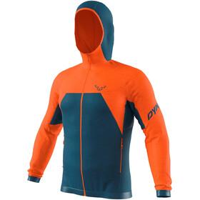 Dynafit Tour Wool Thermal Sudadera Capucha Hombre, Azul petróleo/naranja